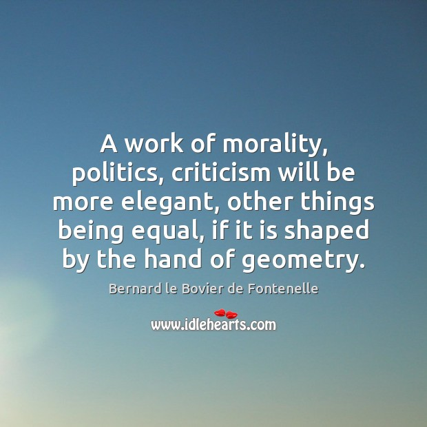 Image, A work of morality, politics, criticism will be more elegant, other things