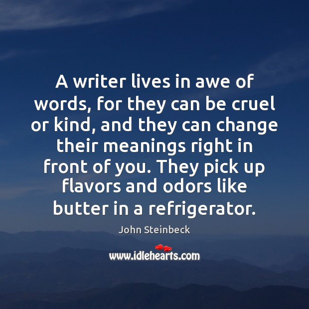 A writer lives in awe of words, for they can be cruel Image
