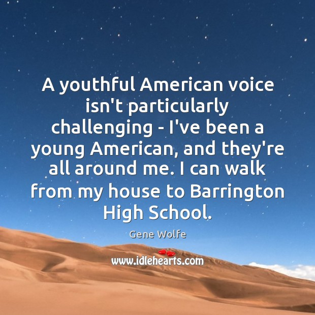 Image, A youthful American voice isn't particularly challenging – I've been a young