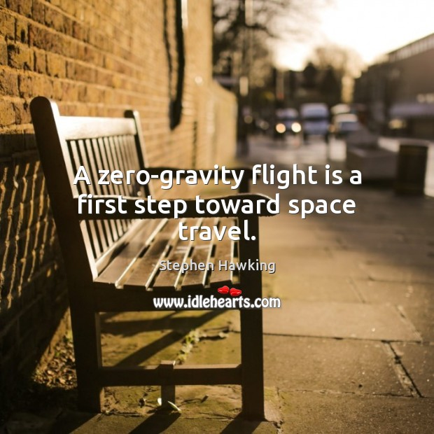 A zero-gravity flight is a first step toward space travel. Image
