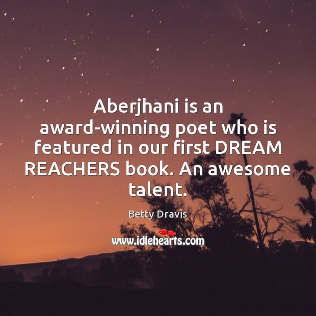 Image, Aberjhani is an award-winning poet who is featured in our first DREAM