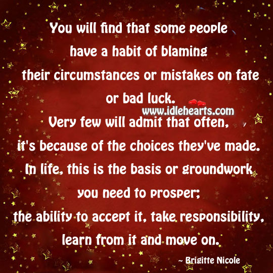 The Ability To Accept It, Take Responsibility