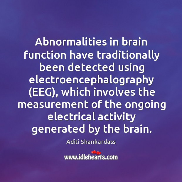 Image, Abnormalities in brain function have traditionally been detected using electroencephalography (EEG), which