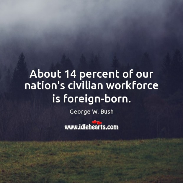 Image, About 14 percent of our nation's civilian workforce is foreign-born.