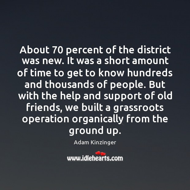 About 70 percent of the district was new. It was a short amount Image