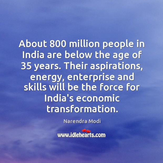 About 800 million people in India are below the age of 35 years. Their Image