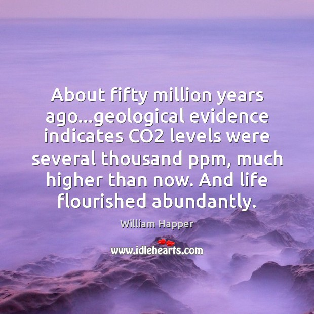 Image, About fifty million years ago…geological evidence indicates CO2 levels were several