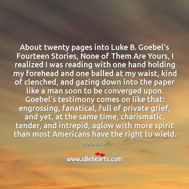 Image, About twenty pages into Luke B. Goebel's Fourteen Stories, None of Them