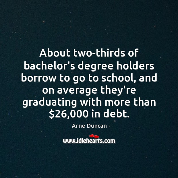 Image, About two-thirds of bachelor's degree holders borrow to go to school, and