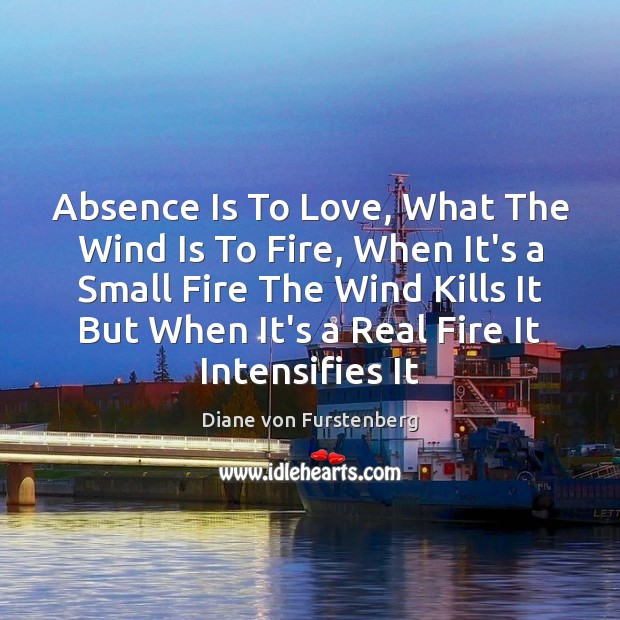 Absence Is To Love, What The Wind Is To Fire, When It's Image