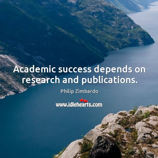 Image, Academic success depends on research and publications.