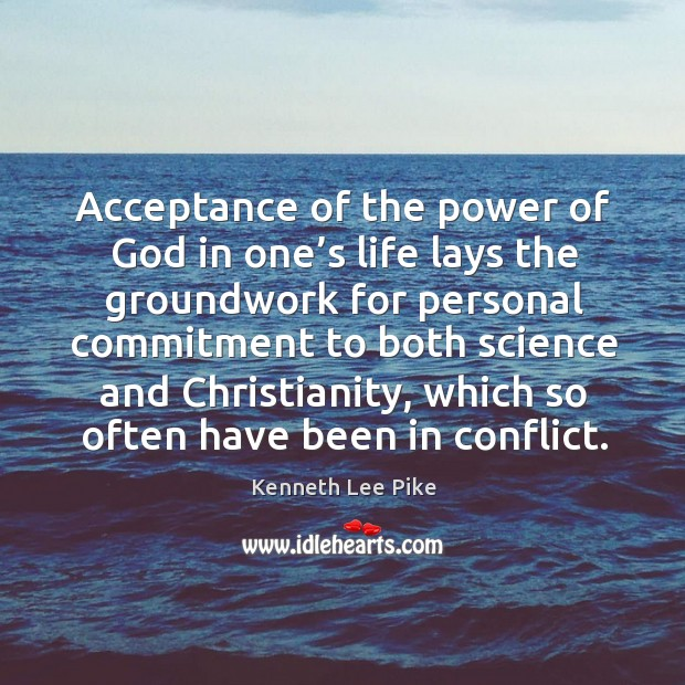 Acceptance of the power of God in one's life lays the groundwork Image
