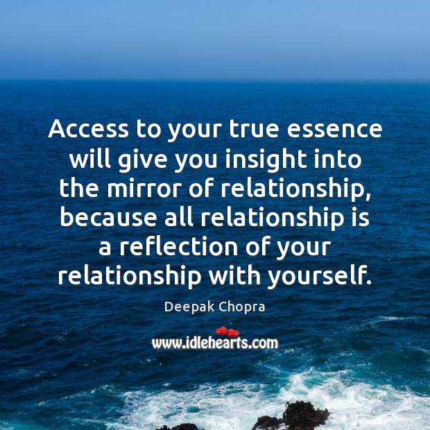 Access to your true essence will give you insight into the mirror Image