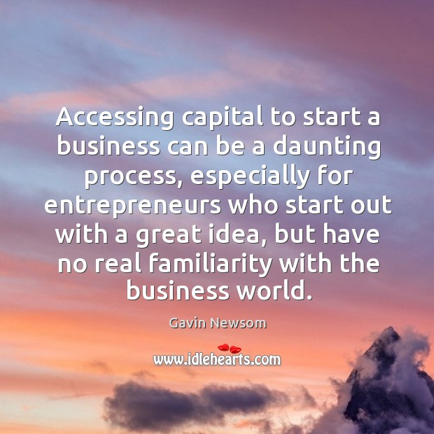 Accessing capital to start a business can be a daunting process Image