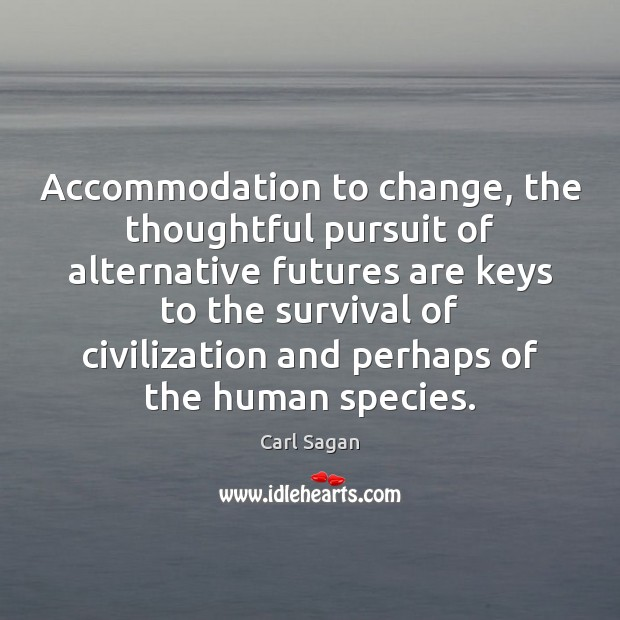 Image, Accommodation to change, the thoughtful pursuit of alternative futures are keys to
