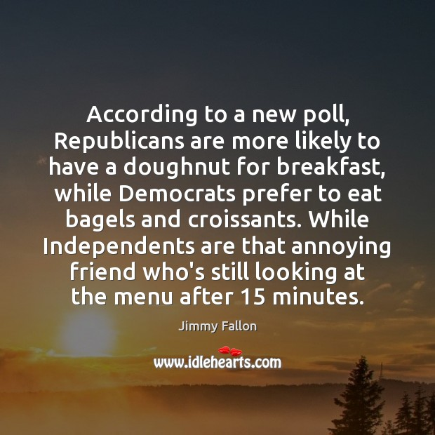 Image, According to a new poll, Republicans are more likely to have a