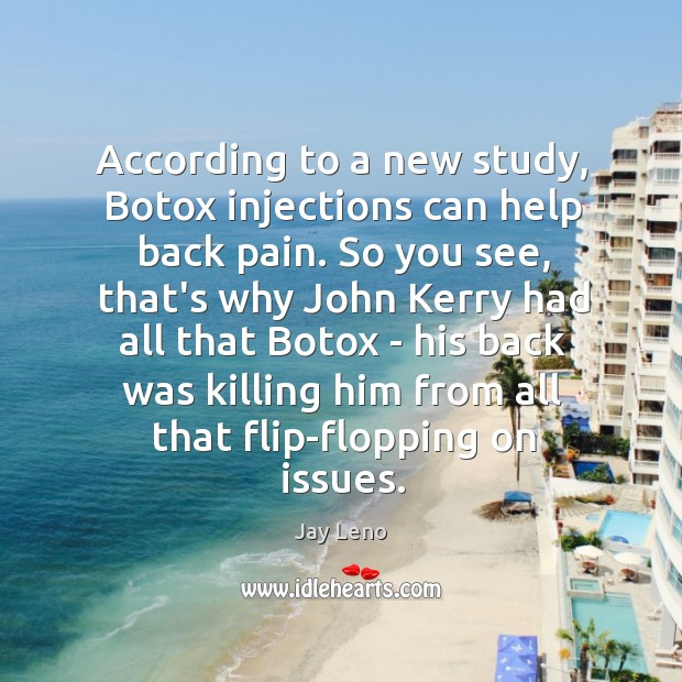 Image, According to a new study, Botox injections can help back pain. So