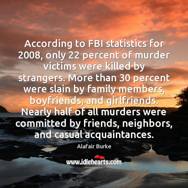 Image, According to FBI statistics for 2008, only 22 percent of murder victims were killed