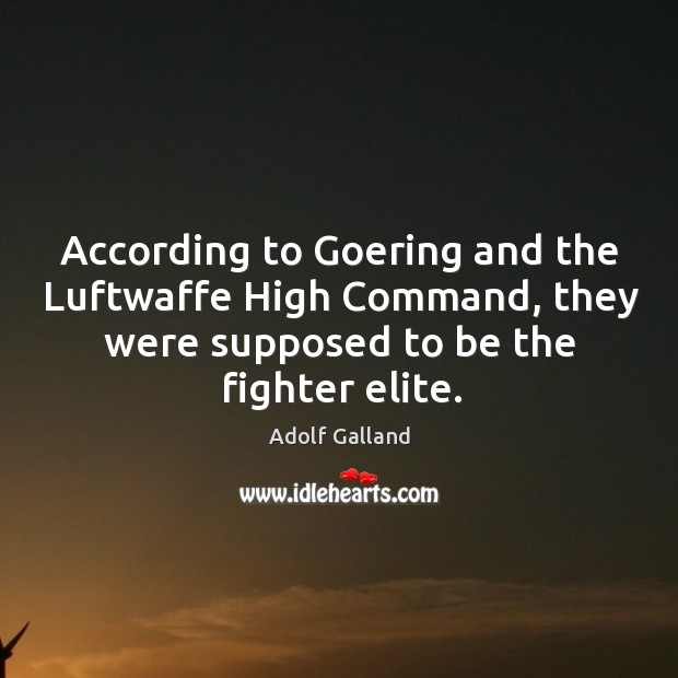 Image, According to goering and the luftwaffe high command, they were supposed to be the fighter elite.