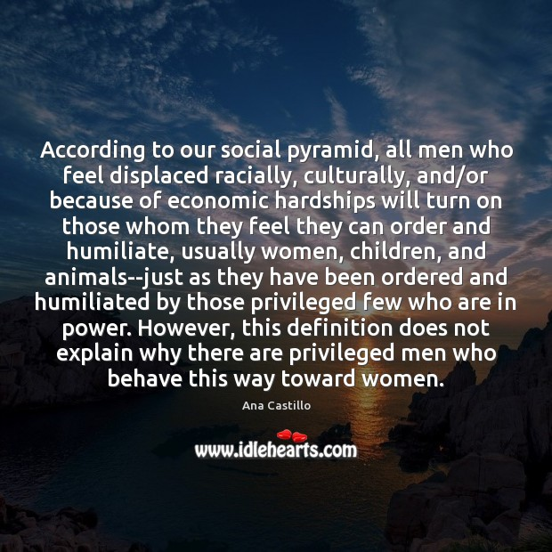 Image, According to our social pyramid, all men who feel displaced racially, culturally,