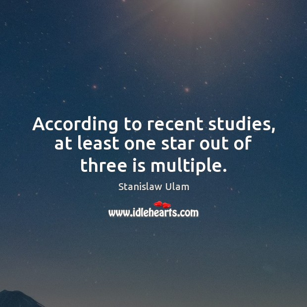 According to recent studies, at least one star out of three is multiple. Image