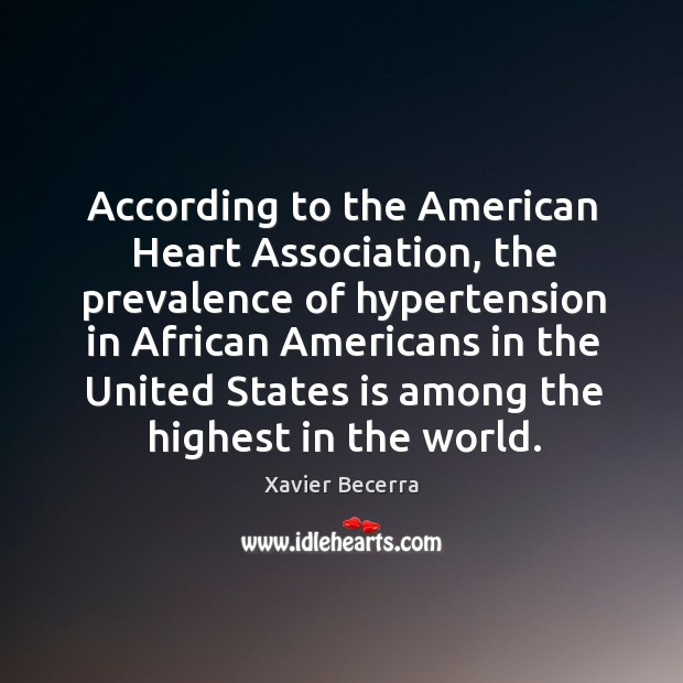 Image, According to the american heart association, the prevalence of hypertension in african