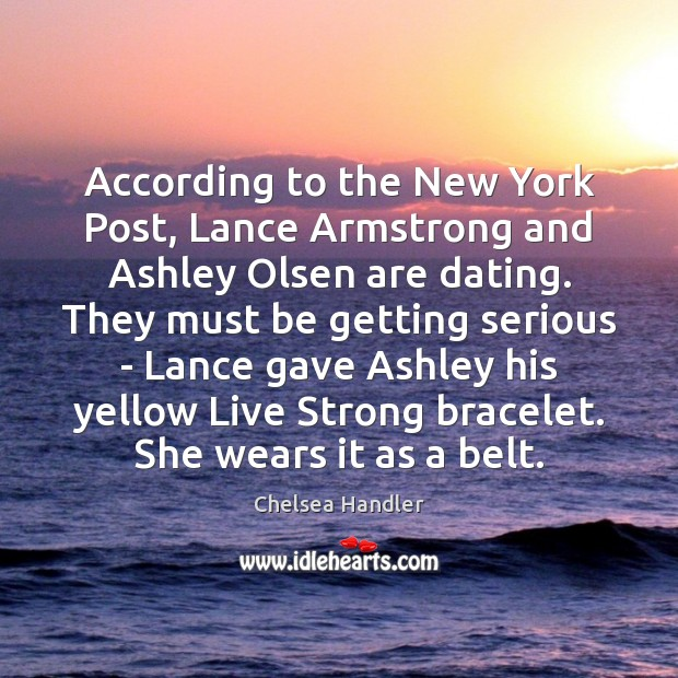 Image, According to the New York Post, Lance Armstrong and Ashley Olsen are