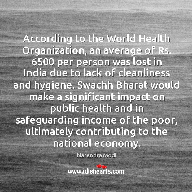 Image, According to the World Health Organization, an average of Rs. 6500 per person