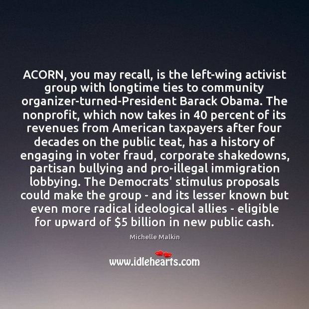 Image, ACORN, you may recall, is the left-wing activist group with longtime ties
