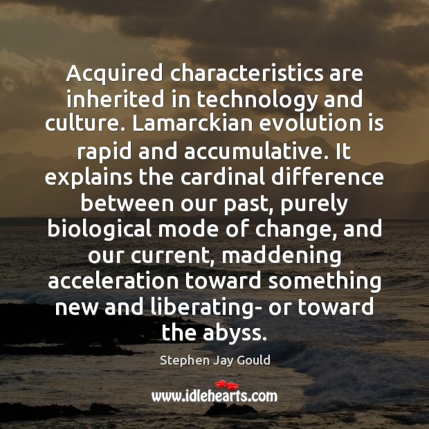 Image, Acquired characteristics are inherited in technology and culture. Lamarckian evolution is rapid