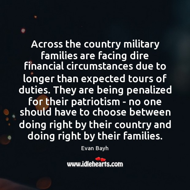 Across the country military families are facing dire financial circumstances due to Image