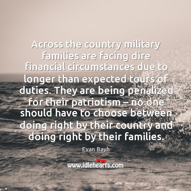 Across the country military families are facing dire financial circumstances due to longer than expected tours of duties. Image