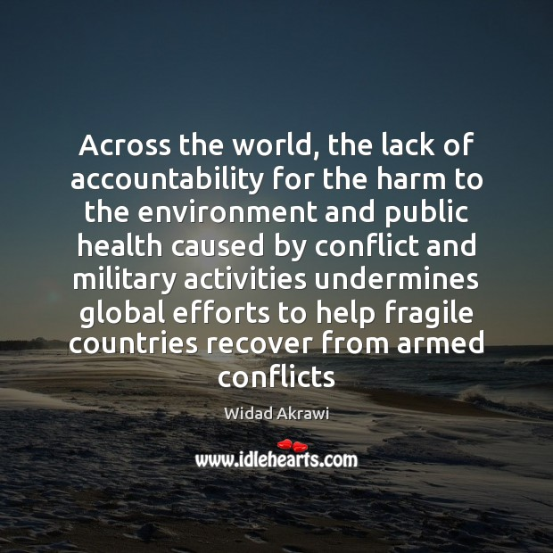 Image, Across the world, the lack of accountability for the harm to the