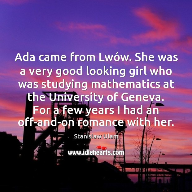 Image, Ada came from Lwów. She was a very good looking girl