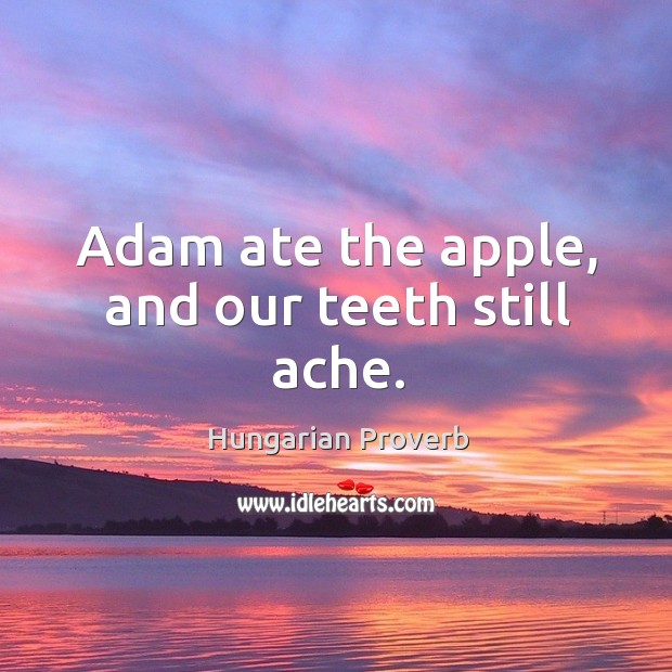 Image, Adam ate the apple, and our teeth still ache.