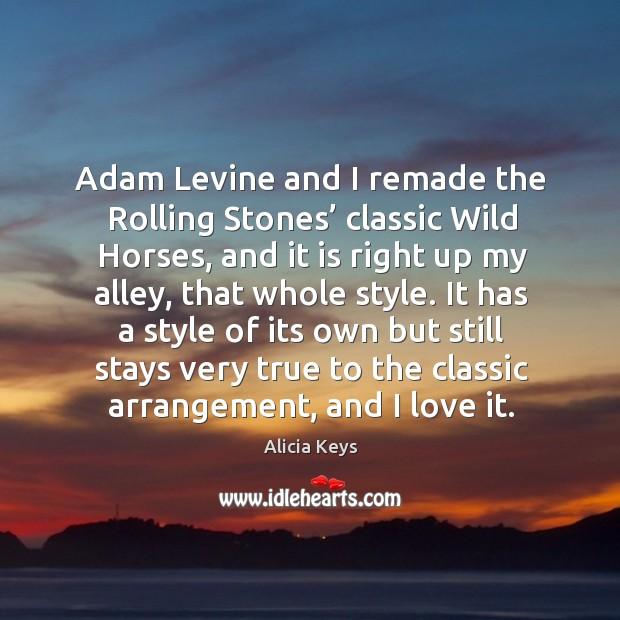 Image, Adam levine and I remade the rolling stones' classic wild horses