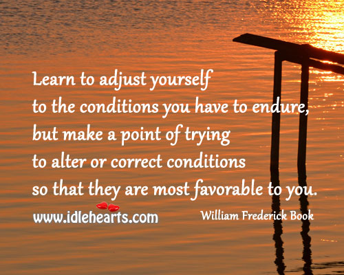 Image, Learn to adjust yourself
