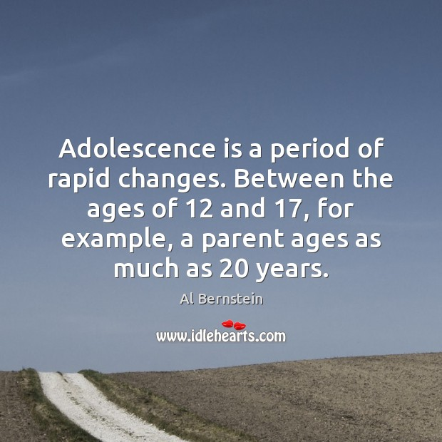 Image, Adolescence is a period of rapid changes. Between the ages of 12 and 17,