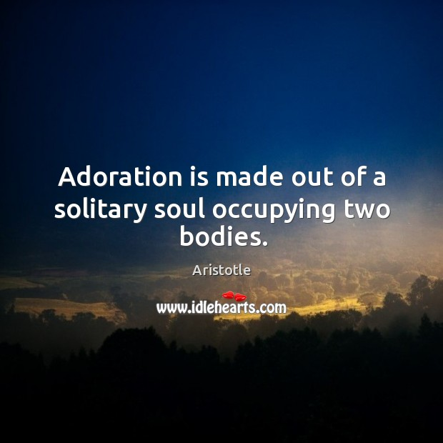Image, Adoration is made out of a solitary soul occupying two bodies.