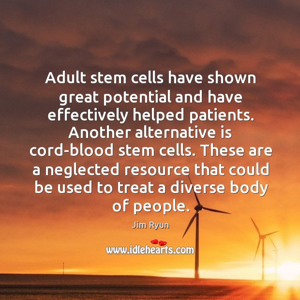 Image, Adult stem cells have shown great potential and have effectively helped patients.