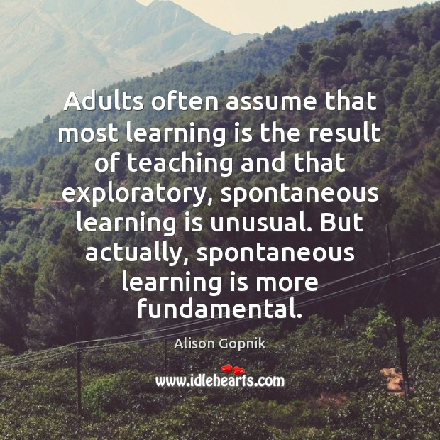 Image, Adults often assume that most learning is the result of teaching and