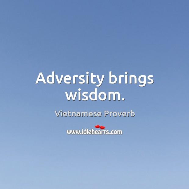 Adversity brings wisdom. Vietnamese Proverbs Image