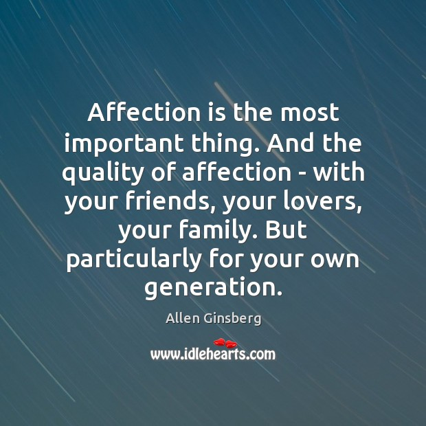 Affection is the most important thing. And the quality of affection – Image