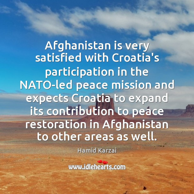 Image, Afghanistan is very satisfied with Croatia's participation in the NATO-led peace mission