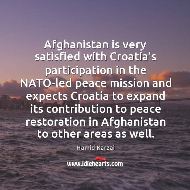 Image, Afghanistan is very satisfied with croatia's participation