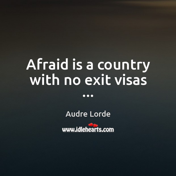 Image, Afraid is a country with no exit visas …