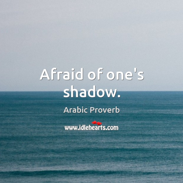 Image, Afraid of one's shadow.
