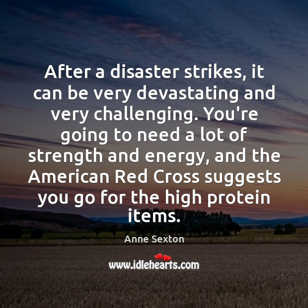 After a disaster strikes, it can be very devastating and very challenging. Image