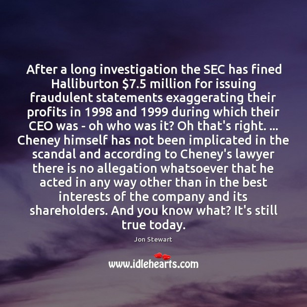 Image, After a long investigation the SEC has fined Halliburton $7.5 million for issuing