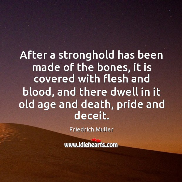 After a stronghold has been made of the bones, it is covered Image